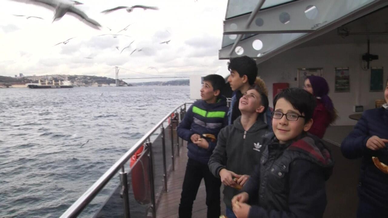 İlk kez İstanbul'u gördüler
