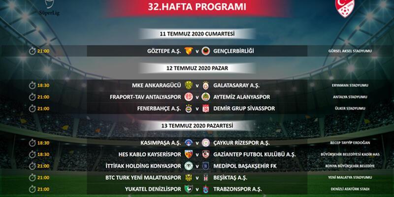 Son dakika… Süper Lig'de 32. hafta programı değişti