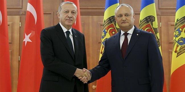 Cumhurbaşkanı Erdoğan, Dodon ile görüştü