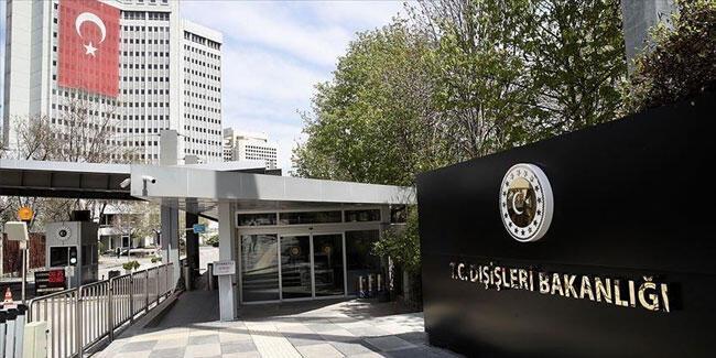 Dışişleri Bakanlığı'ndan Türk gemisindeki hukuksuz aramaya ilişkin açıklama