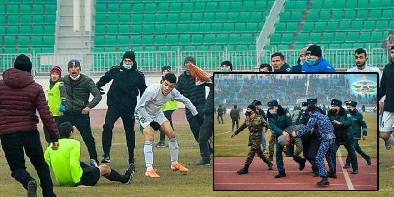 Özbekistan'da hakeme linç girişimi!