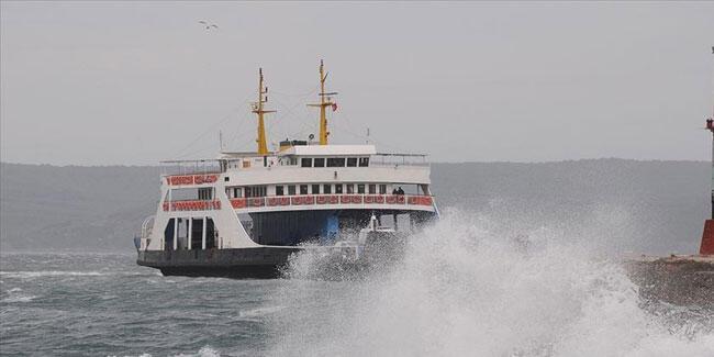 Gökçeada'ya bazı feribot seferlerine 'fırtına' engeli