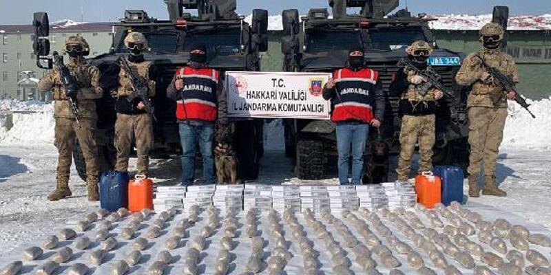 İran'dan, Hakkari'ye 12 katır sırtında getirilen 99 kilo eroin ele geçirildi