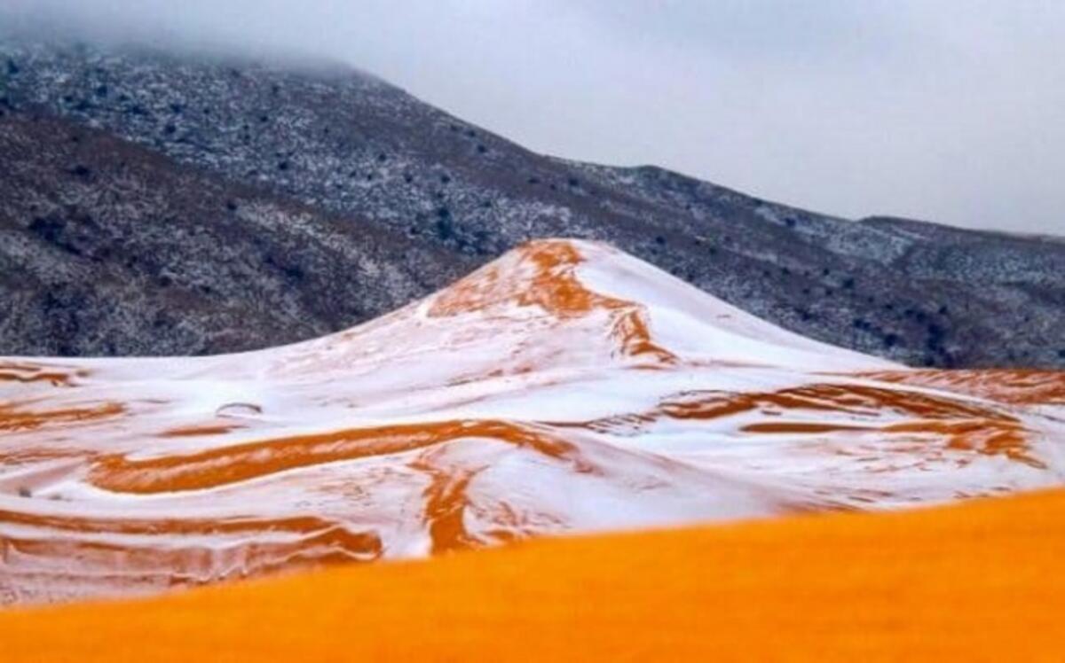 Sahra Çölü'ne 37 yıl sonra ilk kez kar yağdı