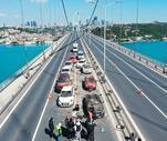 Bu görüntüler bugün 15 Temmuz Şehitler Köprüsü'nde çekildi!