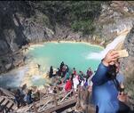 Son Dakika: Sosyal medyada gören oraya gidiyor! Doğa harikasına ziyaretçi akını
