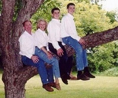 Utandıran aile fotoğrafları
