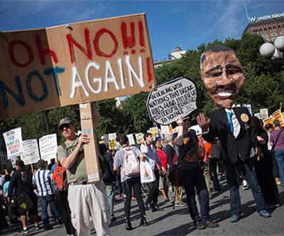 ABD'li savaş karşıtları sokaklarda