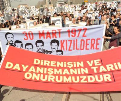 """Taksim'de """"Kızıldere"""" yürüyüşü"""