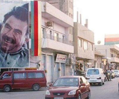 Suriye sınırında PKK bayrağı