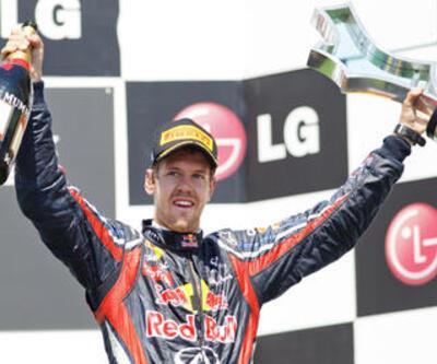 Vettel Valencia'da hız kesmedi