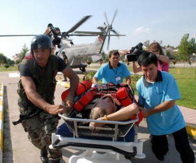 Fethiye'de paraşütle düşen turist kurtarıldı