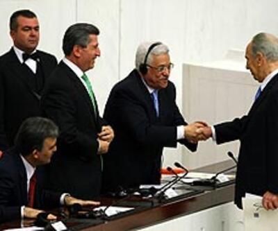 Peres ve Abbas'tan TBMM'de barış mesajı