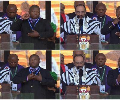 Mandela'nın cenazesinde tercüman skandalı