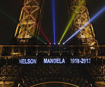 Nelson Mandela Eyfel Kulesi'nde...