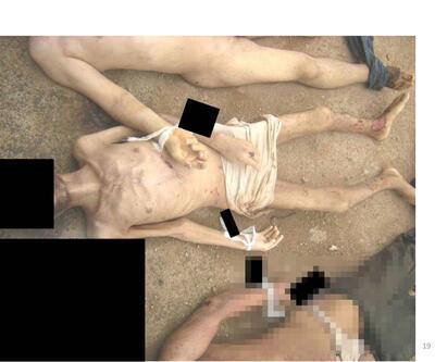 Suriye'den insanlık dışı görüntüler...