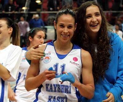 FIBA Kadınlar Avrupa Ligi: - Kayseri KASKİ: 63 - Beratta Famila: 50