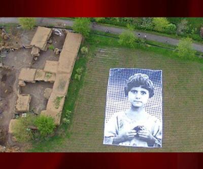İHA saldırıları dev çocuk posteri ile kınandı