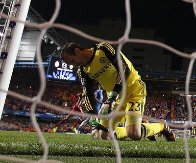 Chelsea - Atletico Madrid maçından çarpıcı kareler