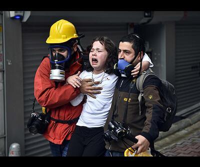 Evdeki çocuklar biber gazından etkilendi (foto galeri)