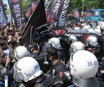 Antikapitalist Müslümanlar'a polis müdahalesi (video)