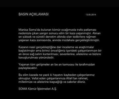 Soma Kömür İşletmeleri internet sitesini kapattı