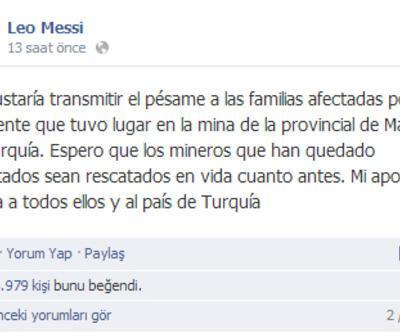 Messi'den Soma için taziye mesajı