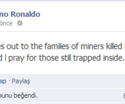 Cristiano Ronaldo Soma için dua ediyor