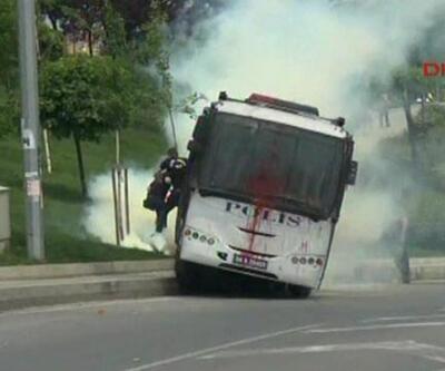 Okmeydanı'nda polislerin zor anları