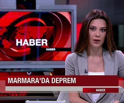 Depreme canlı yayında yakalandı (video)