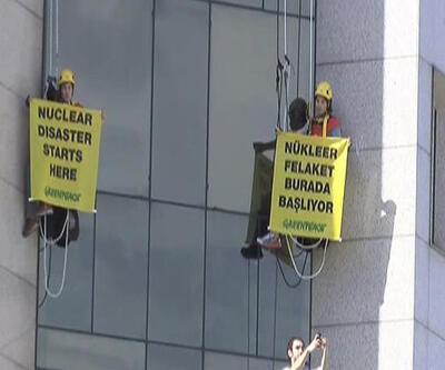 Greenpeace'den nükleer santral eylemi!
