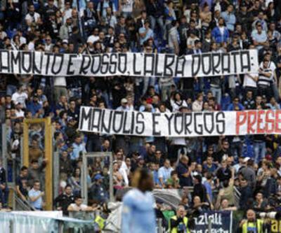 Lazio taraftarlarından faşizme destek