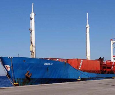 Kardak açıklarında durdurulan gemiden mermi çıktı