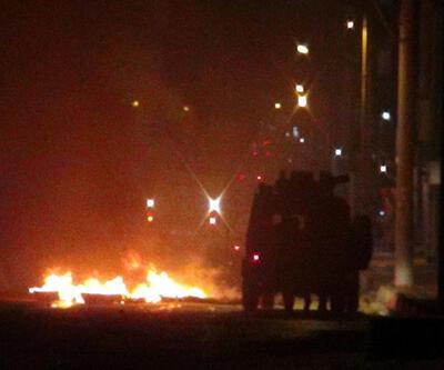 İpek Yolu'nu kapatan göstercilere polis müdahalesi