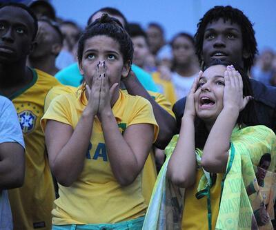 Brezilya taraftarlarının gözyaşları...