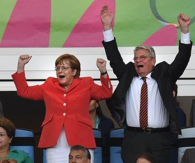 Almanya gol atınca Merkel!