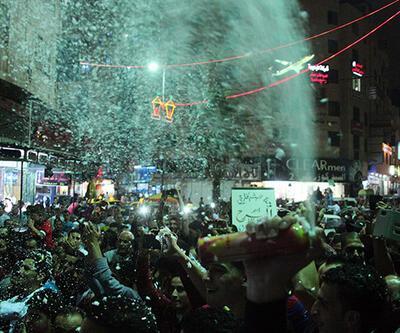 Esir alınan İsrail askeri için kutlama yaptılar