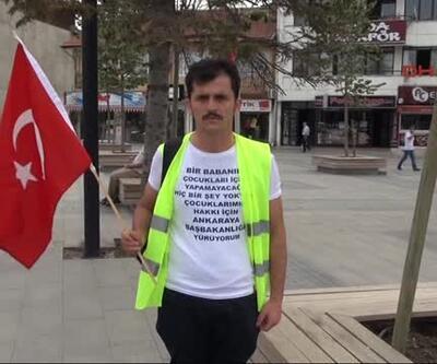 Hukuk mücadelesini kaybetti Düzce'den Ankara'ya yürüdü