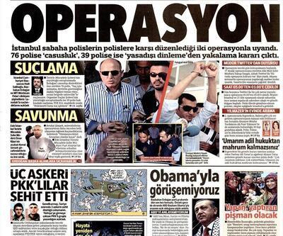 Gazete manşetleri (23 Temmuz 2014)