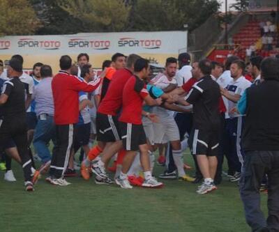 Eskişehirspor - Kardemir Karabükspor maçında yumruklar konuştu