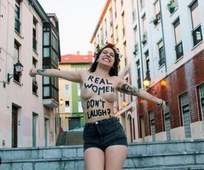 """FEMEN'den Arınç'a """"kahkaha"""" yanıtı"""