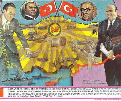 Türk siyasetine ait unutulmaz afişler