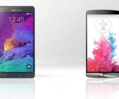 Samsung Galaxy Note 4 ile LG G3'ün karşılaştırması