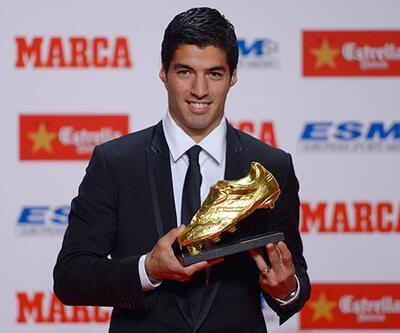 """Suarez """"Altın Ayakkabı""""sını aldı"""