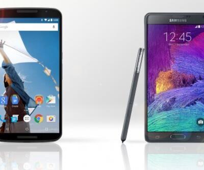Nexus 6 - Galaxy Note 4 karşılaştırması