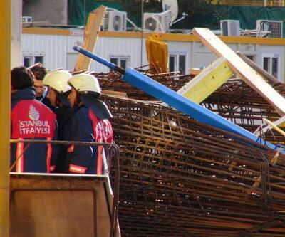Rezidans inşaatında iskele çöktü, işçi öldü