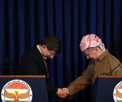Başbakan Davutoğlu, Barzani ile görüştü