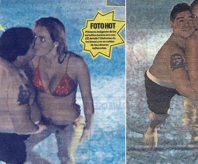 Maradona'nın aşk fotoğrafları olay yarattı!