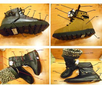 Zehirli ayakkabıların fotoğrafları yayınlandı
