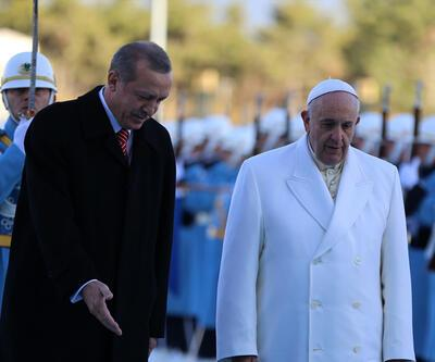 AK Saray'ın ilk devlet başkanı konuğu Papa